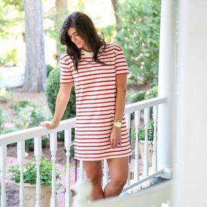 MADEWELL Pocket Tee Dress Pablo Stripe {AA40}